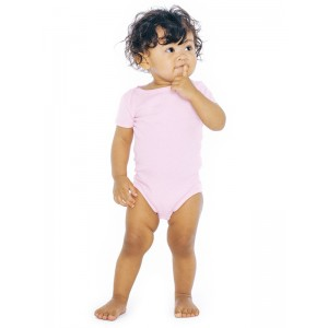 American Apparel 4001 Baby Rib Infant Onesie