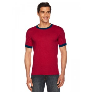 American Apparel BB410 Poly Cotton Ringer Tee