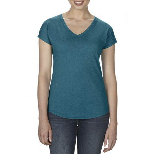 Anvil 6750VL Womens Triblend V-Neck