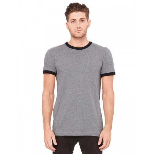 Bella 3055 Heather Ringer Jersey Tee