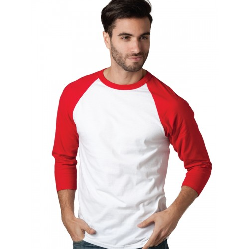 M&O Knits 5540 Adult Baseball 3/4 Sleeve Raglan