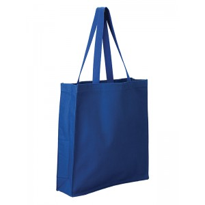 Q-TEES 125300 Heavy Canvas Gusset Shopper