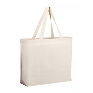 Q-TEES Q600 Canvas Gusseted Jumbo Tote